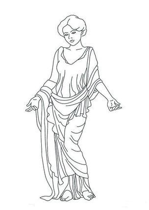 Click Venus Statue Coloring page for printable version