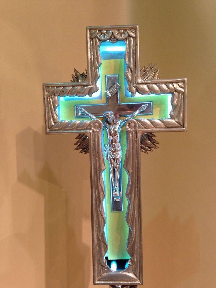 Vintage Neon Jesus Crucifix Cross Sign Deco 20s 30s Rare