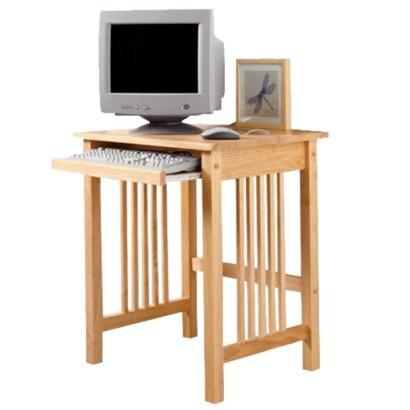 4198  Super cute Mission Natural Side Desk Would work