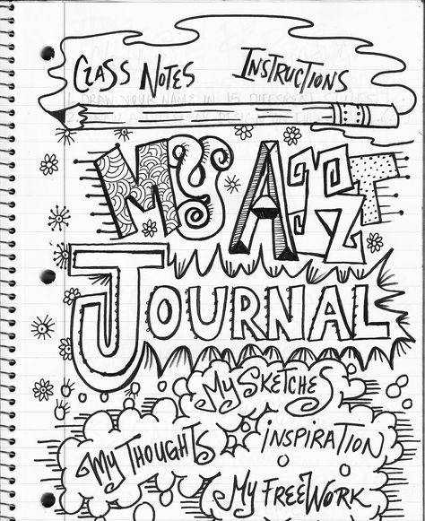 The Lost Sock : Art Class Journaling.... Lettering