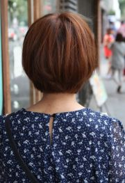 view of cute korean bob haircut