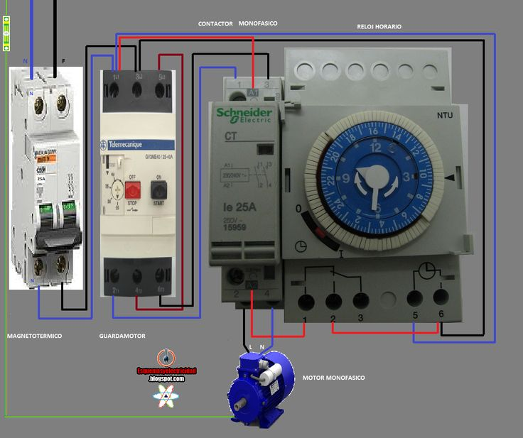 2 way switch diagram wiring ceiling fan electrical diagrams: contactor and watch hours | esquemas eléctricos pinterest watches