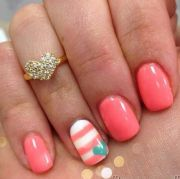 ideas nails turquoise