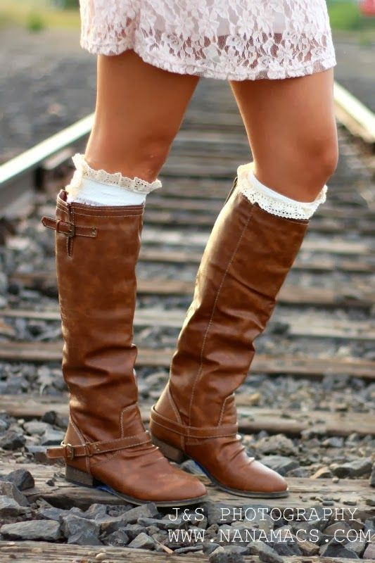 Amazing long brown boots with white socks for fall Fun and Fashion Blog
