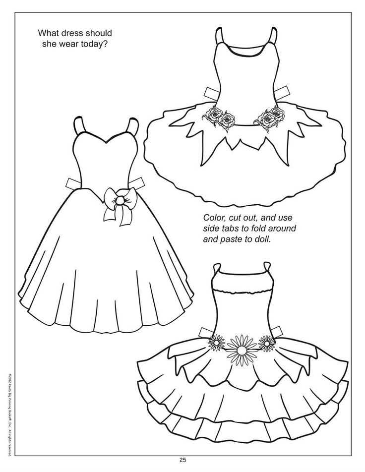 17 Best images about Black & White Paper Dolls Coloring