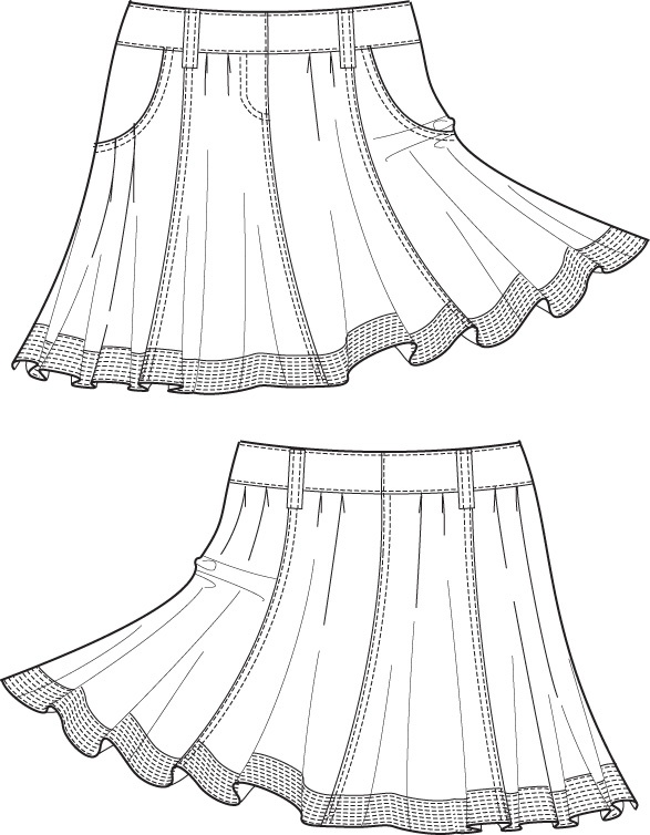 117 best images about Technical fashion drawings skirts on