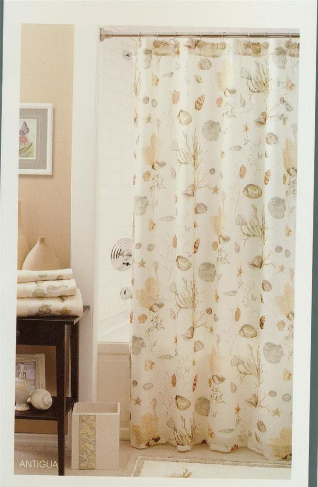 Shower curtain antigua seashells beach chapel hill