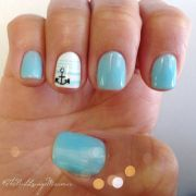 summer nail design gel