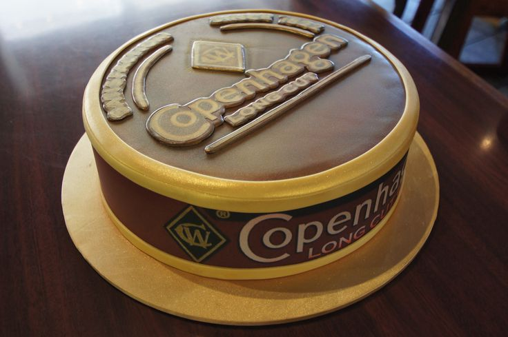 Copenhagen Chewing Tobacco Can Shaped Birthday Cake