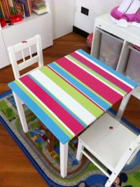 Painted Kritter table from Ikea | Living // Kids ...