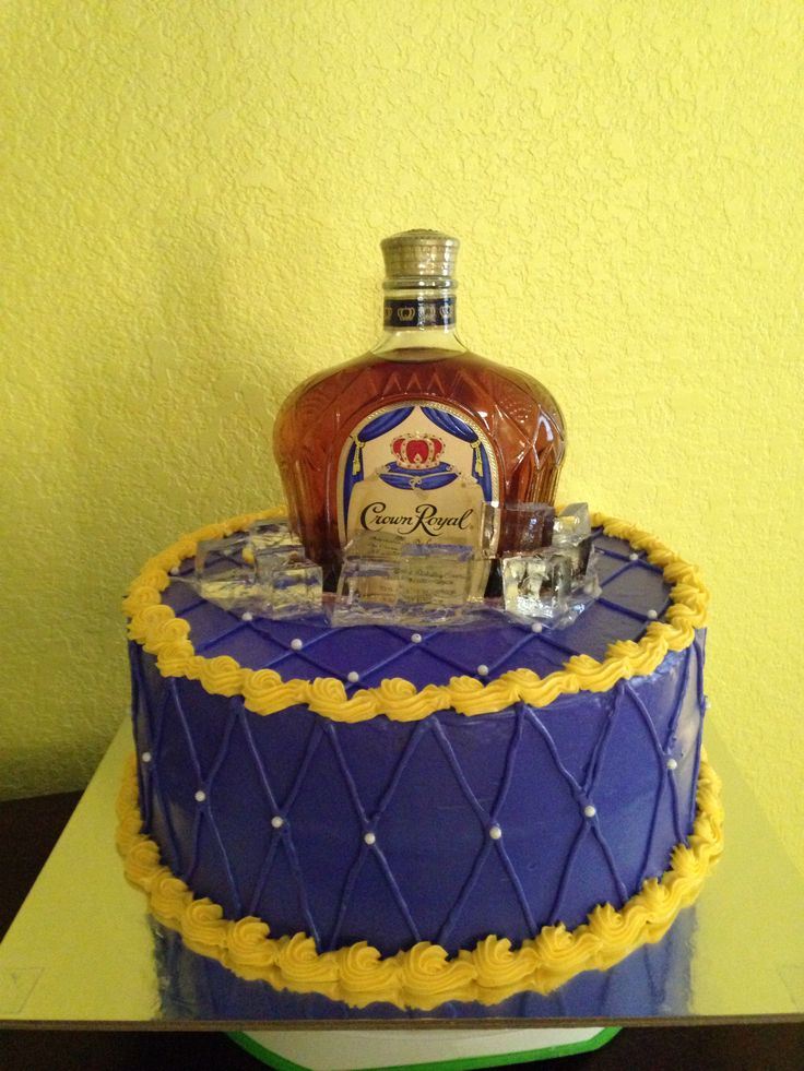 Crown Royal Cake Cakes For All Occasions Pinterest