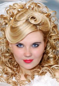 Wedding hairstyles for long hair with full fringe. Short ...