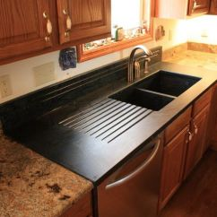 Granite Kitchen Counters Unique Appliances Soapstone Sinks - In This Kitchen, A Sink ...