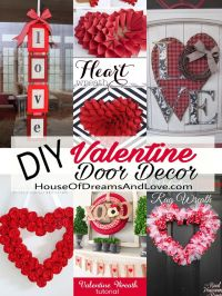 These easy and festive DIY Valentine's Day wreaths and ...