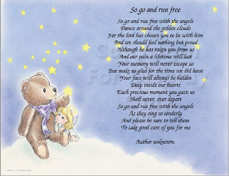 """So Go And Run Free"" Bereavement Baby Passing Away Death"