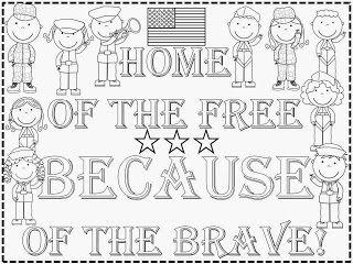 FREEBIE: Veteran's Day Kindergarten Poster