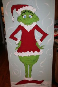 The Grinch Standee~ Decoration for school | My creations ...
