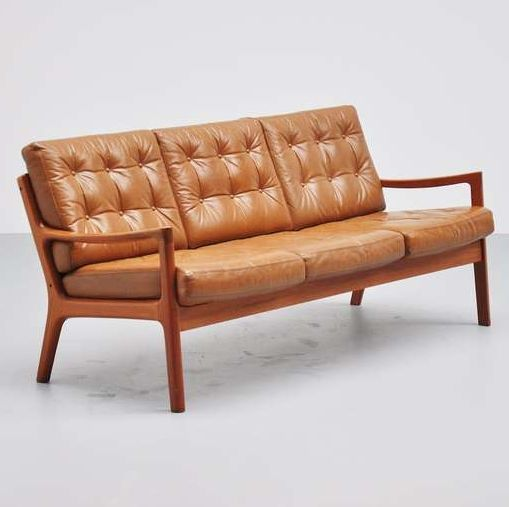 ebay sofas for sale leather brown studded sofa ole wanscher senator #166, france & son, 1951   teak ...