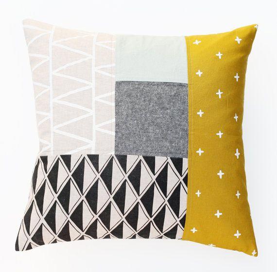 25 best ideas about Patchwork Pillow on Pinterest