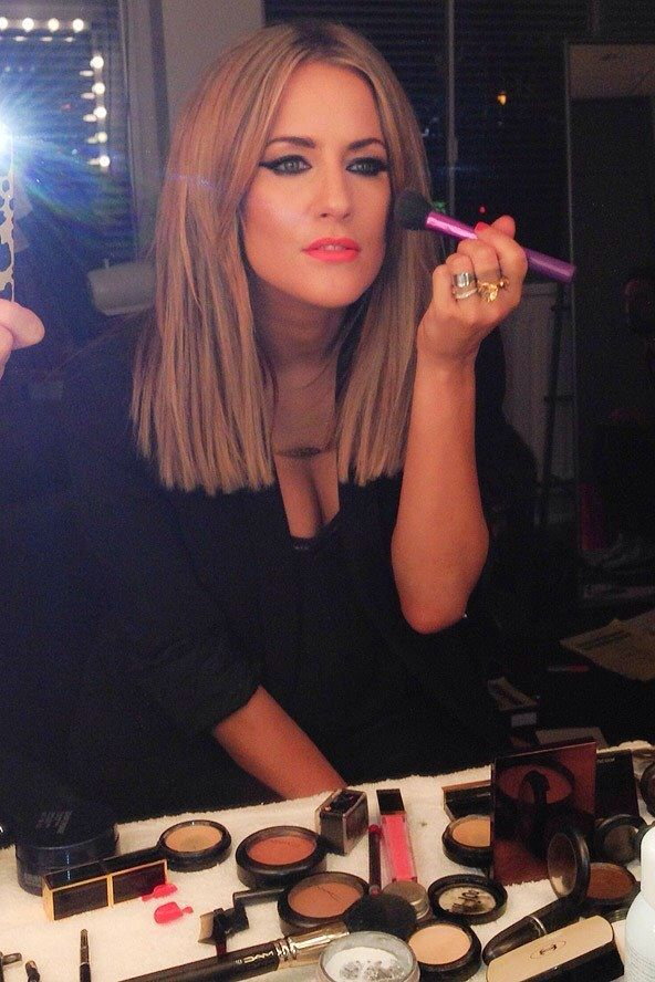 Mac Morange Lipstick Blunt bob Caroline Flack  Hair