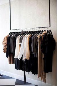 Clothes rack. | Hang | Pinterest | Simple wardrobe, Coat ...