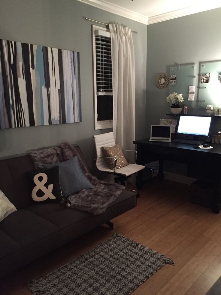 Home office with futon cb2 potterybarn target  Office