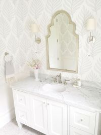 Best 25+ Bathroom Wallpaper ideas on Pinterest | Half ...