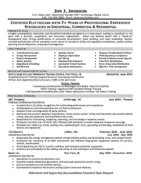 Electrician Helper Resume Cover Letter Resume Examples Resume