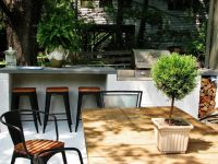 easy cinder block bbq with eating bar. Great for patio ...
