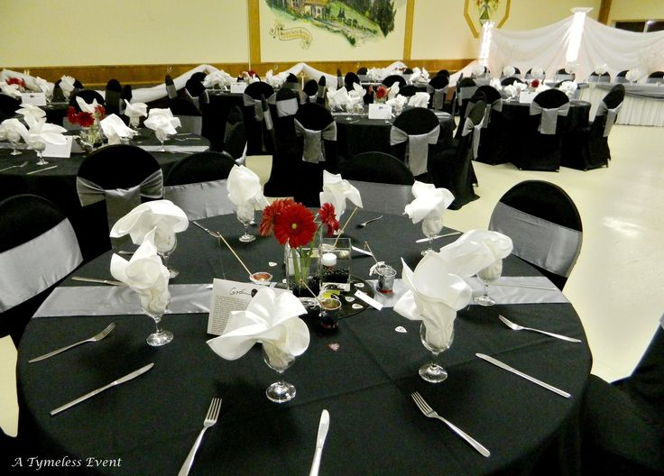 wedding chair covers or not for teenage girl bedroom square table decoration a reception | with black & grey charcoal ...