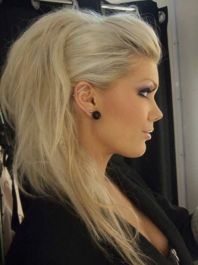25 Best Ideas About Rock Hairstyles On Pinterest Faux Side
