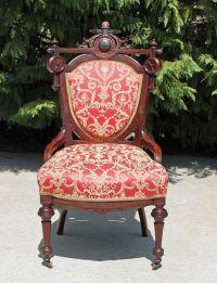Stunning Victorian Walnut Renaissance Revival Parlor Chair ...