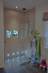 Walk in Shower for Family Bathroom. APS shower screen