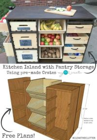 17 Best ideas about Diy Kitchen Island on Pinterest