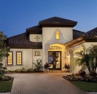 Mediterranean Tuscan Style Home/House | Home Exteriors ...
