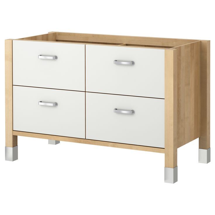 SEKTION Base cabinet with 3 drawers white Frvara