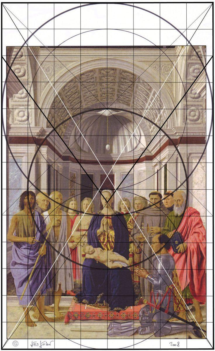 Piero Della Francesca Pala Montefeltro Costruzione