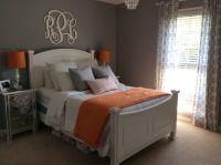 Orange and gray bedroom | Bedroom inspiration | Pinterest ...