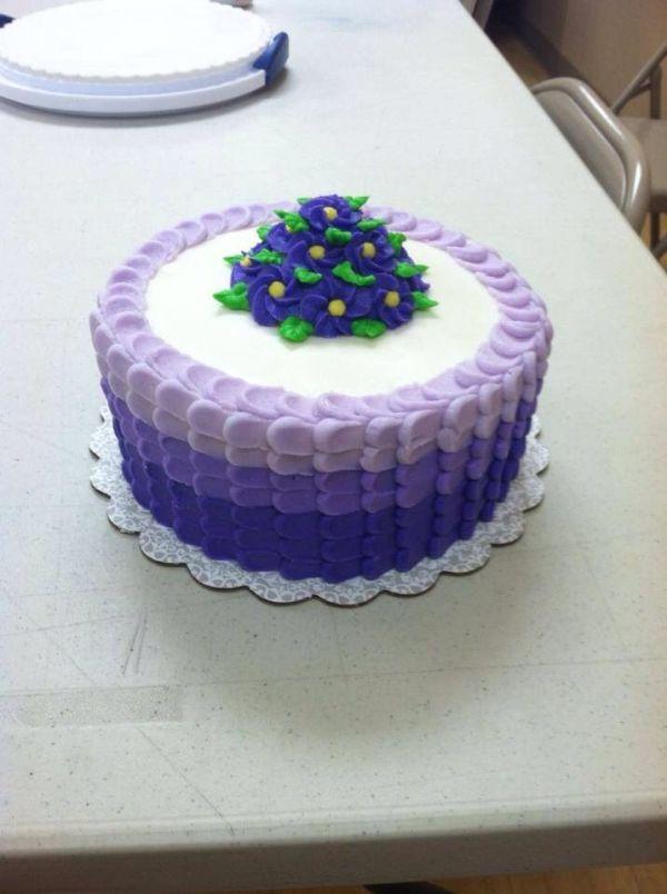 Wilton Course 1 Final Cake   Ombré Cakes   Pinterest   Cake