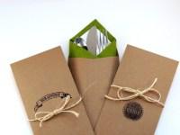 24 Kraft Silverware Holder or Wedding Favor Bag: Wedding