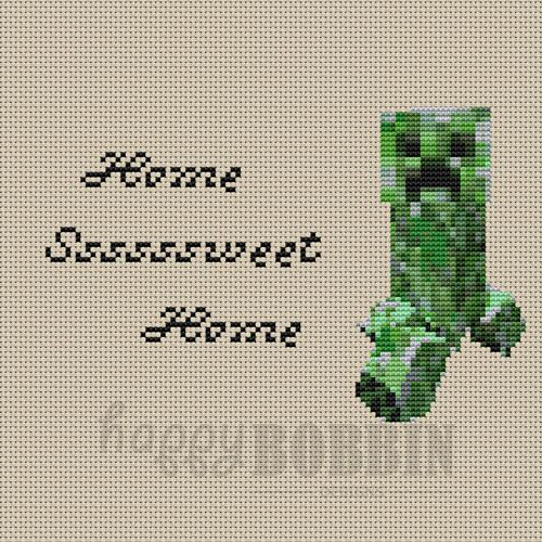 Minecraft Tribute Cross Stitch Patterns Kids Cross