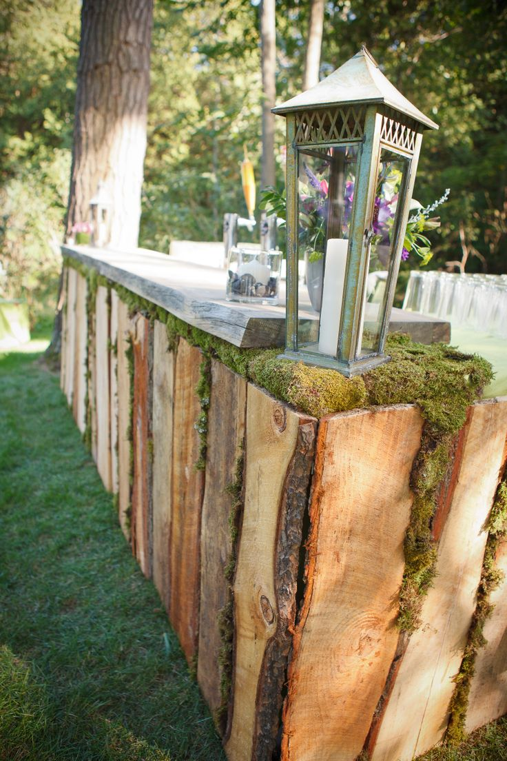 Gorgeous Handmade Wooden Outdoor Bar Wedding Pinterest Bar Rustic And Rustic Bars