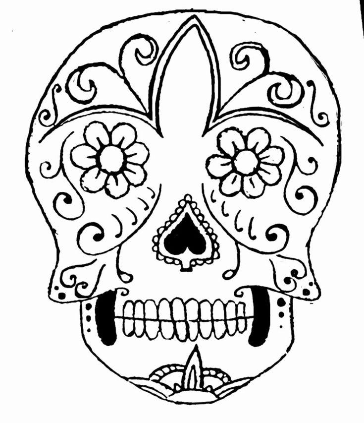 Day of the Dead, dia de los muertos, Sugar Skull, Coloring