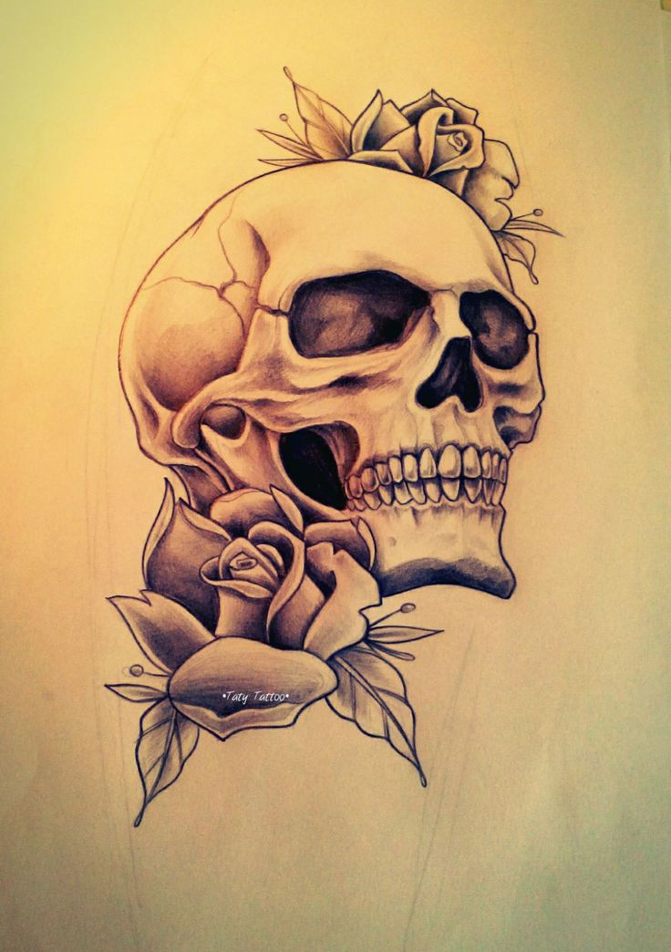 25+ Best Ideas About Skull Rose Tattoos On Pinterest