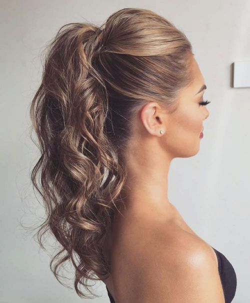 25 Best Ideas About Curly Ponytail Hairstyles On Pinterest