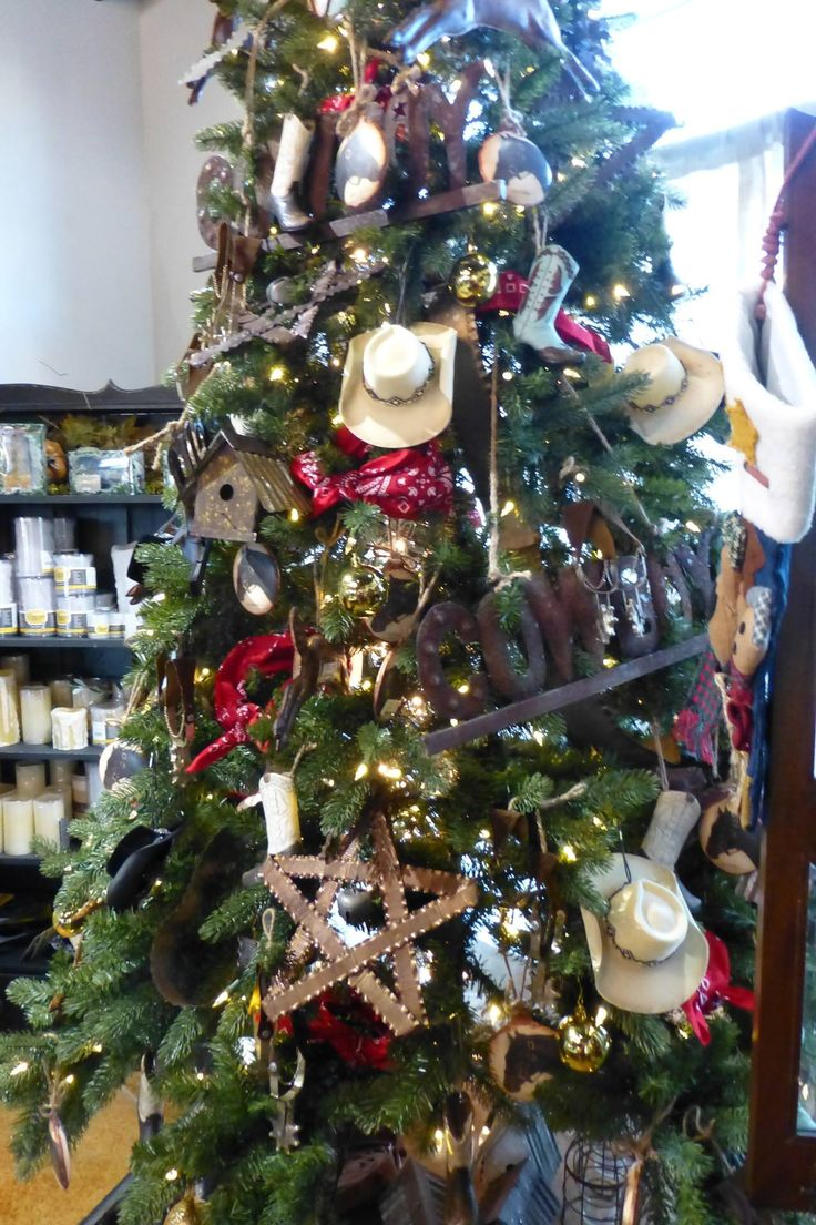 Cowboy Christmas Tree  Compliments of Sue Murphy and The Freckled Frog Reno NV  Holidays