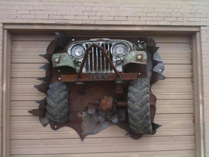 Jeep Coolest garage door ever  Its A Jeep Thing  Pinterest  Jeep jeep That so and Places