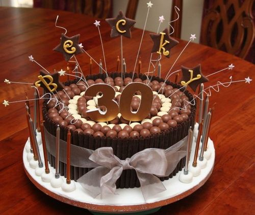 Chocolate 30th Birthday Cakes For Men Cakes