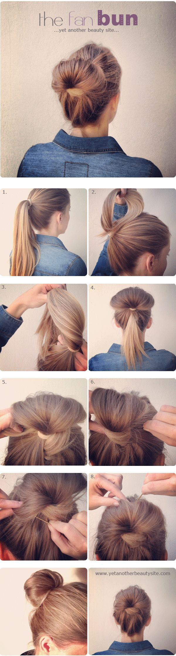 This is by FAR my favorite, quick & easy up-do! Been doing this look for months now, only higher up on my head… looks totally