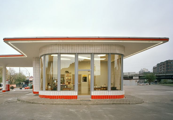 50s gas station  mid century gas station  Pinterest  Search
